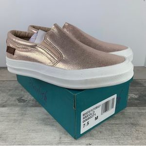 Rose gold shoes